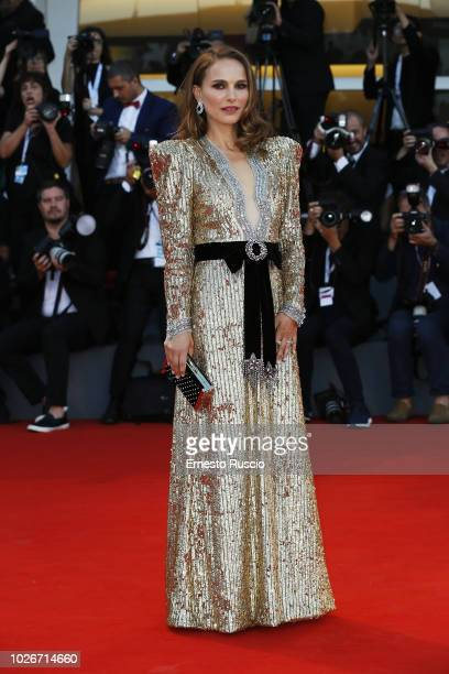Actress Natalie Portman walks the red carpet ahead of the 'Vox Lux' screening during the 75th Venice Film Festival at Sala Grande on September 4 2018...