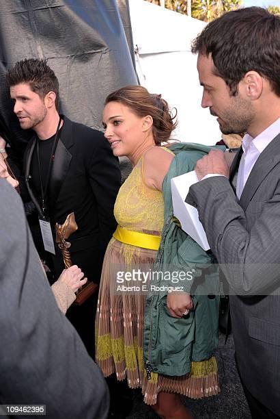 Actress Natalie Portman winner of the Best Female Lead award for 'Black Swan' attends the 2011 Film Independent Spirit Awards at Santa Monica Beach...