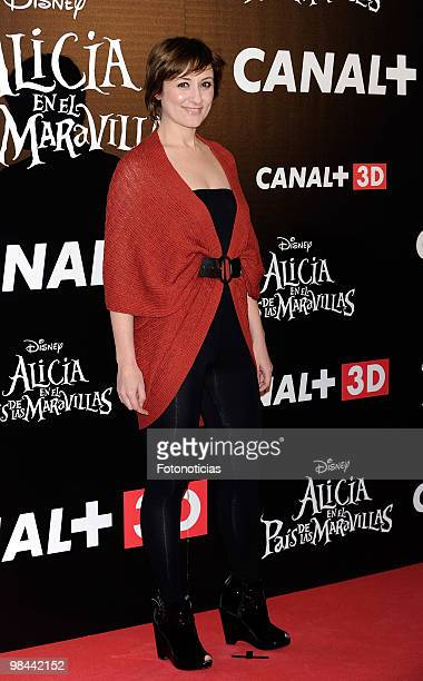 Actress Natalie Poza attends 'Alicia en el Pais de las Maravillas' premiere at Proyecciones Cinema on April 13 2010 in Madrid Spain