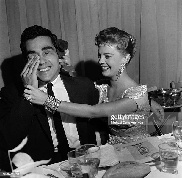 Actress Natalie Wood and actor Perry Lopez attend the Thalians' to raise money for children with mental health problems' in Los AngelesCA
