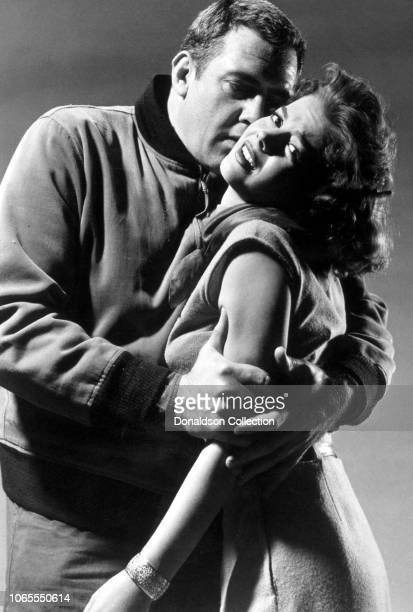 Actress Natalie Wood and Raymond Burr in a scene from the movie A Cry in the Night