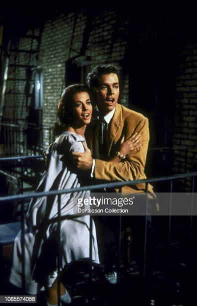"Actress Natalie Wood and Richard Beymer in a scene from the movie ""West Side Story"""