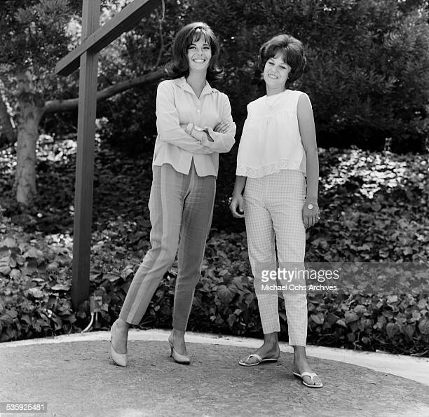 Actress Natalie Wood and sister Lana Wood pose for a portrait in Los Angeles,CA.