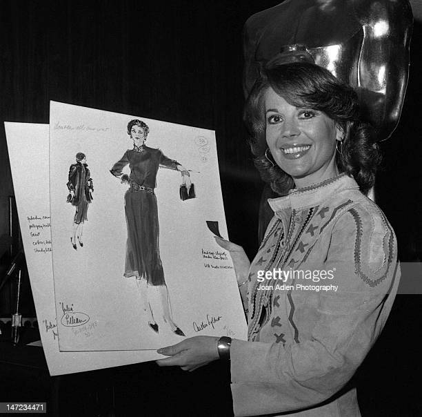 Actress Natalie Wood at the Oscarcast rehearsal for the costume parade she narrates for the nominated films at the 50th Academy Awards held at the...