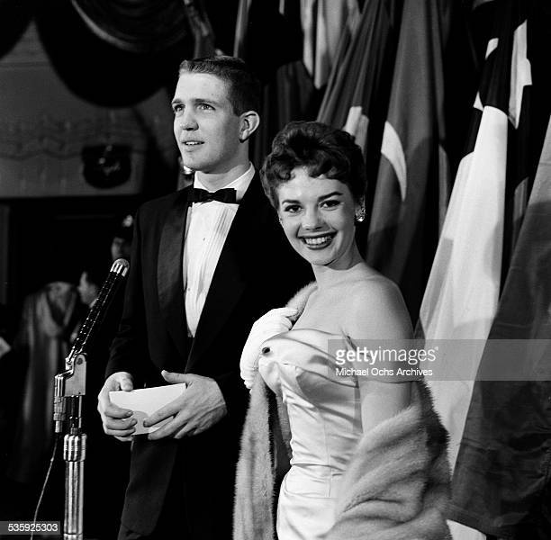 Actress Natalie Wood attends the premiere of Helen of Troy in Los AngelesCA