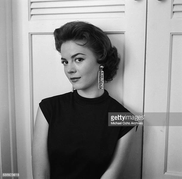 Actress Natalie Wood poses for a portrait at home in Los Angeles,CA.