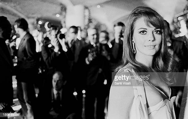 Actress Natalie Wood posing for photographers at a party at the 79th Street Yacht Basin in Manhattan on Juine 5 1969 in New York New York