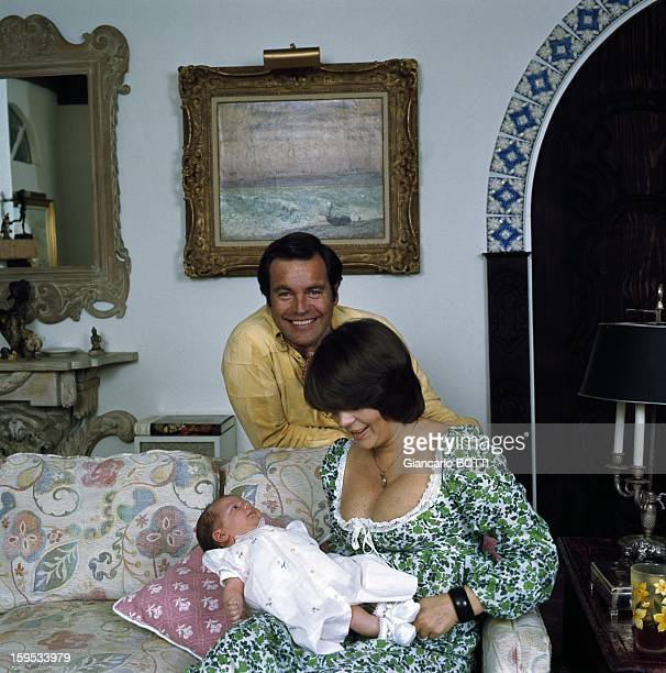 Actress Natalie Wood with her husband Robert Wagner and their daughter Courtney 1974