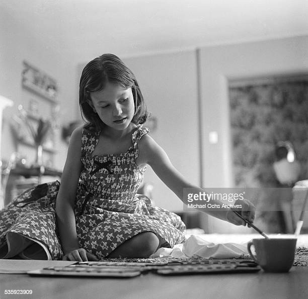 Actress Natalie Wood's sister Lana Wood poses for a portrait at home in Los Angeles,CA.
