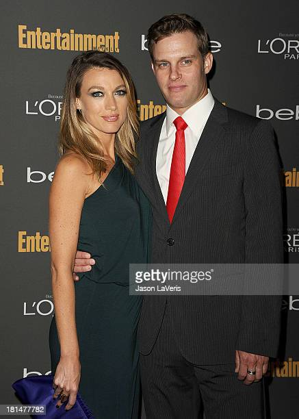 Actress Natalie Zea and actor Travis Schuldt attend the Entertainment Weekly preEmmy party at Fig Olive Melrose Place on September 20 2013 in West...