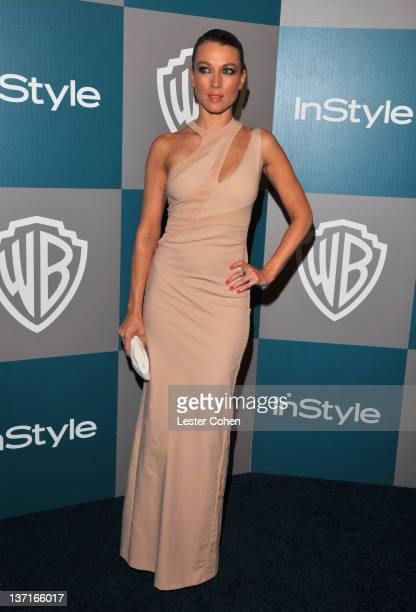 Actress Natalie Zea arrives at the 13th Annual Warner Bros. And InStyle Golden Globe After Party held at The Beverly Hilton hotel on January 15, 2012...