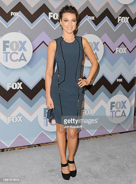 Actress Natalie Zea arrives at the 2013 Winter TCA FOX AllStar Party at The Langham Huntington Hotel and Spa on January 8 2013 in Pasadena California