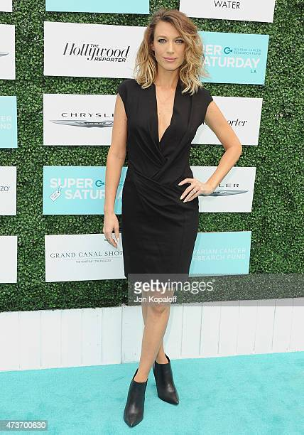 Actress Natalie Zea arrives at the Ovarian Cancer Research Fund's 2nd Annual Super Saturday LA at Barker Hangar on May 16 2015 in Santa Monica...