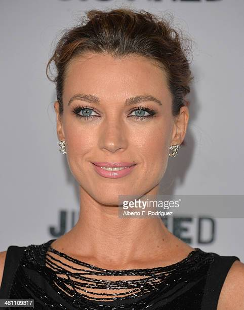 Actress Natalie Zea arrives to the Season 5 premiere of FX's Justified at DGA Theater on January 6 2014 in Los Angeles California