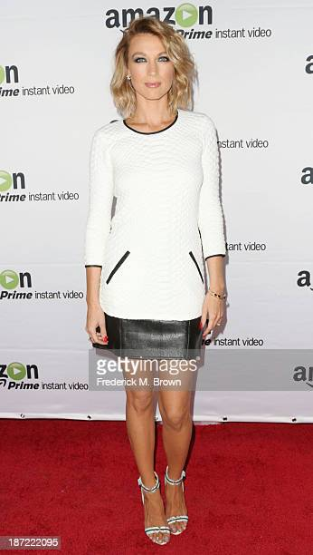 Actress Natalie Zea attends Amazon Studios Launch Party to Celebrate Premieres of their First Original Series at Boulevard3 on November 6 2013 in...
