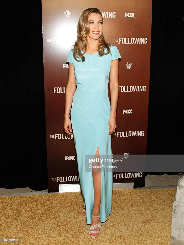 Actress Natalie Zea attends 'The Following' premiere at The New York Public Library on January 18, 2013 in New York City.