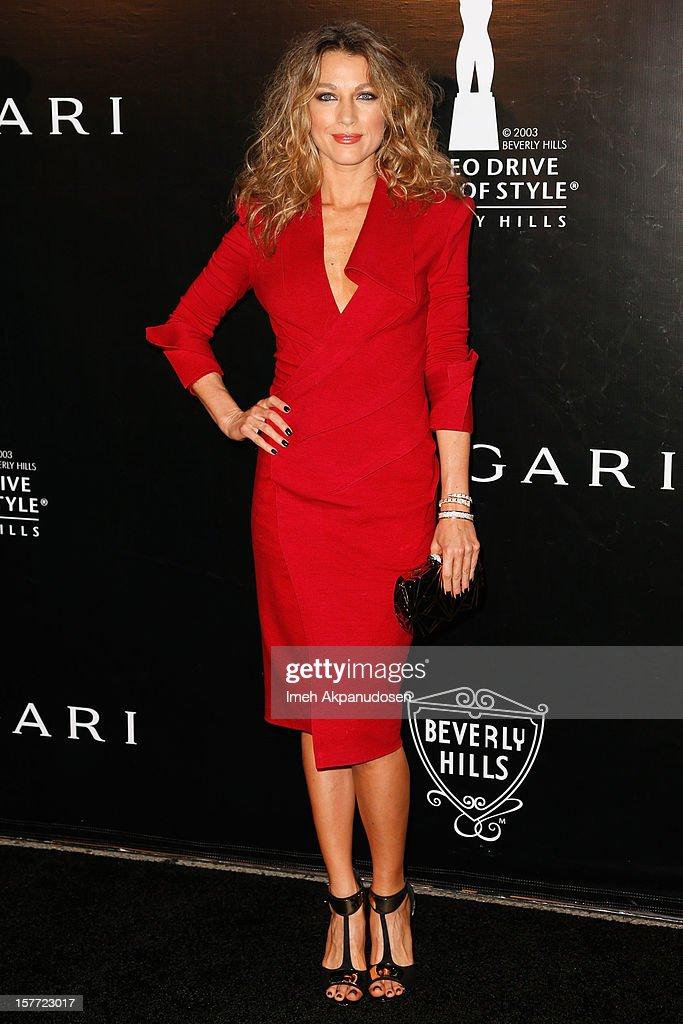 Actress Natalie Zea attends the Rodeo Drive Walk Of Style honoring BVLGARI and Mr. Nicola Bulgari held at Bulgari on December 5, 2012 in Beverly Hills, California.