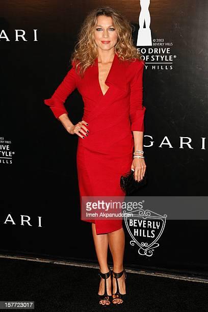 Actress Natalie Zea attends the Rodeo Drive Walk Of Style honoring BVLGARI and Mr Nicola Bulgari held at Bulgari on December 5 2012 in Beverly Hills...