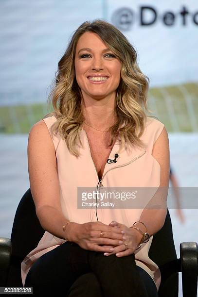 Actress Natalie Zea of The Detour speaks onstage during the 2016 TCA Turner Winter Press Tour Presentation at the Langham Hotel on January 7 2016 in...