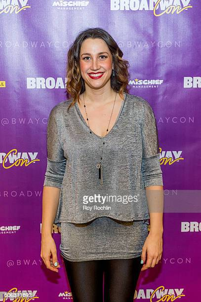 Actress Nataly Weiss attends BroadwayCon 2016 at the New York Hilton Midtown on January 22 2016 in New York City