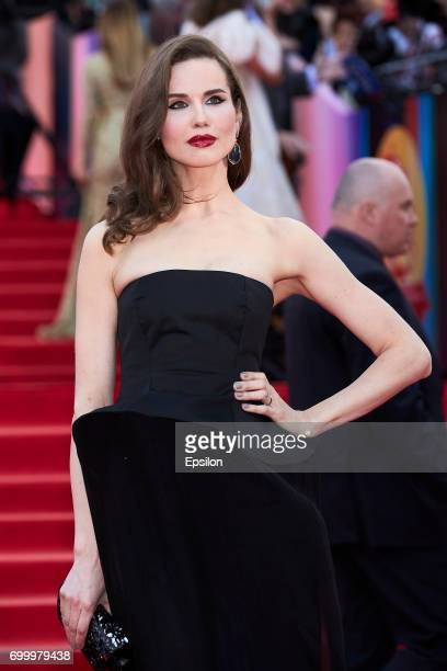 Actress Natalya Lesnikovskaya attends opening of the 39th Moscow International Film Festival outside the Karo 11 Oktyabr Cinema on June 22 2017 in...