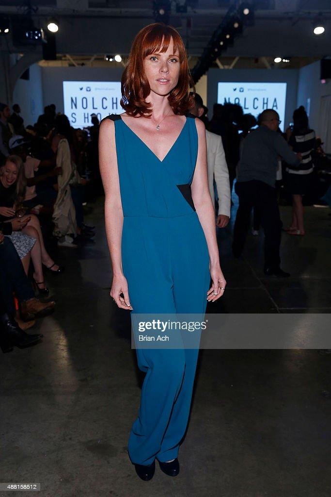 Actress Natalya Rudakova poses at Nolcha Shows During New York Fashion Week  Spring/Summer 2016