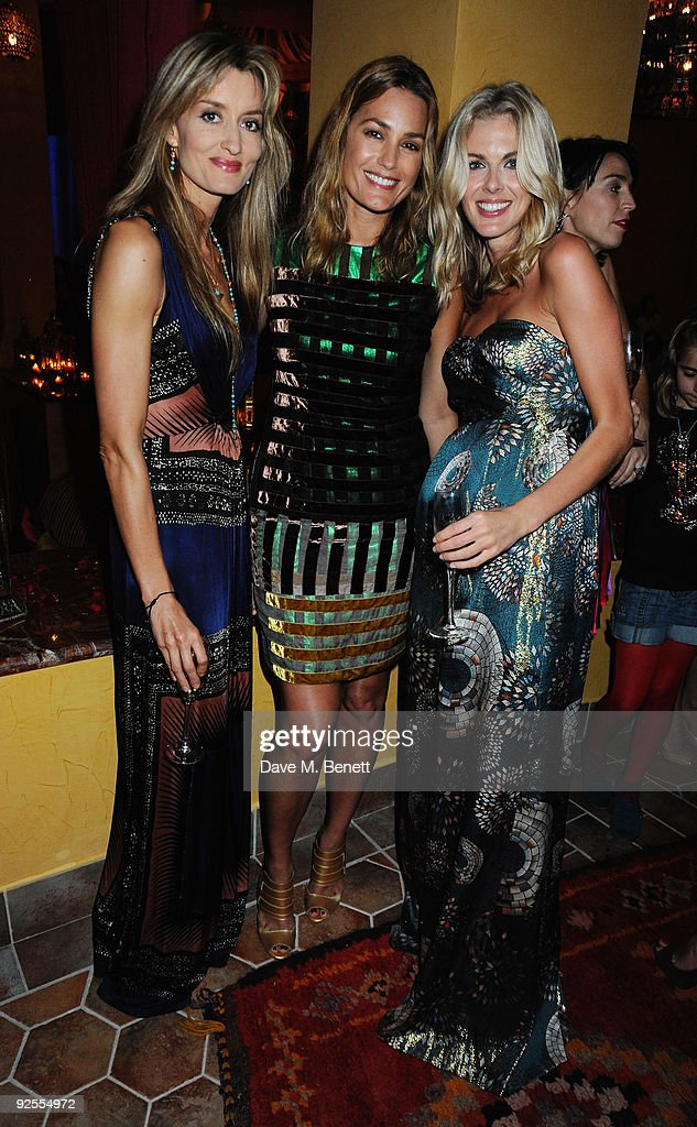 Actress Natascha Mc Elhone, Yasmin Le Bon and Donna Air attend a party held for the grand opening of Mazagan Beach Resort on October 30, 2009 in El Jadida, Morocco. Kerzner International have launched a brand new 500-room tourist destination in Morocco boasting an 18-hole golf course designed by Gary Player, a 7km stretch of beach, luxury boutiques, eight restaurants, casino, nightclub, a spa and one of the largest conference centres in the region.