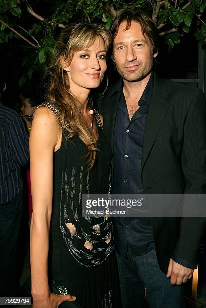 Actress Natascha McElhone and actor David Duchovny attend the after party for the premiere of Showtime's Weeds Season 3 and Californication at...
