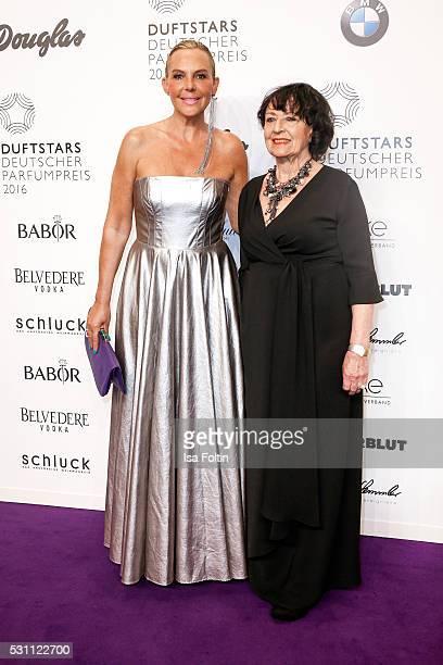 Actress Natascha Ochsenknecht wearing a dress by the Designer Eva Lutz and her mother Baerbel Wierichs attend the Duftstars 2016 at Kraftwerk Mitte...