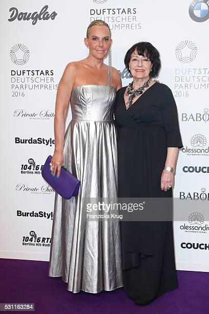 Actress Natascha Ochsenknecht wearing a dress by the designer Eva Lutz and her mother Baerbel Wierichs attend the Douglas at Duftstars at Kraftwerk...