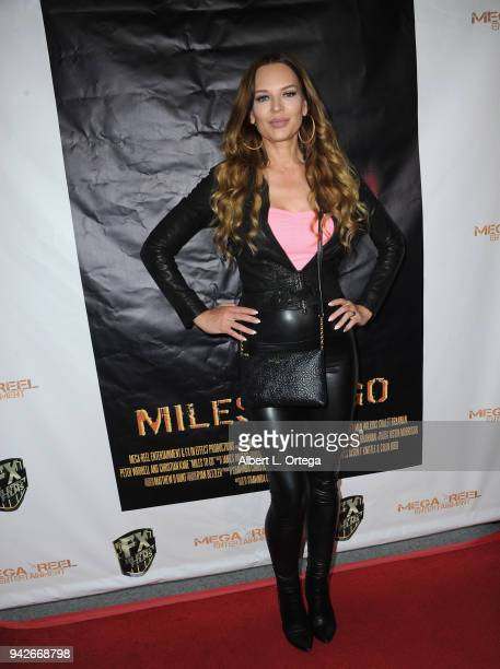 Actress Natasha Alam arrives for the Los Angeles Premiere of 'Miles To Go' held at Writers Guild Theater on April 5 2018 in Beverly Hills California