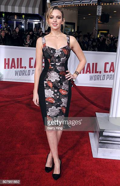 Actress Natasha Bassett attends the Premiere of Universal Pictures' 'Hail Caesar' at the Regency Village Theatre on February 1 2015 in Westwood...