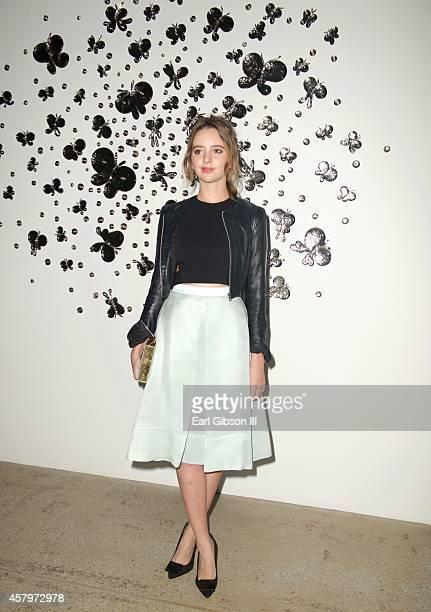 Actress Natasha Bassett attends the Ruffian Spring 2015 Fashion Show at Gavlak Gallery on October 27 2014 in Los Angeles California