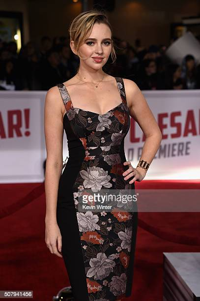 Actress Natasha Bassett attends Universal Pictures' Hail Caesar premiere at Regency Village Theatre on February 1 2016 in Westwood California