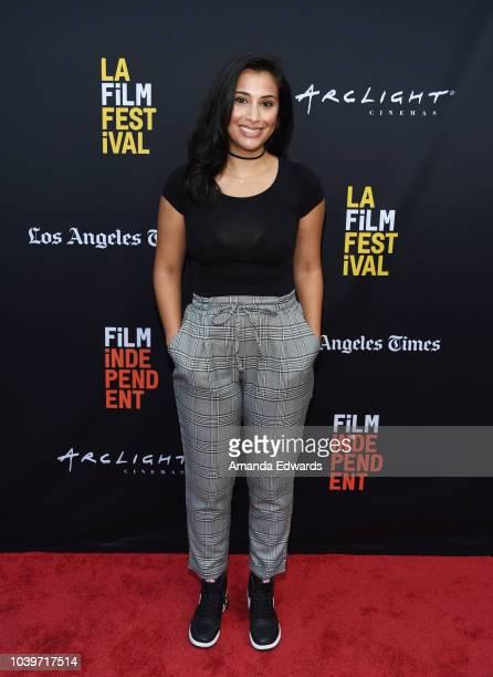 Actress Natasha Forouzannia attends the 2018 LA Film Festival Project Involve Shorts screening event at the ArcLight Hollywood on September 24 2018...
