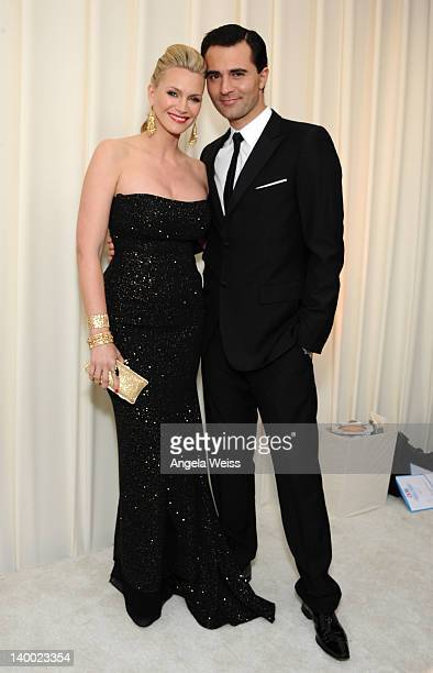 Actress Natasha Henstridge and Darius Campbell attend CIROC Vodka at 20th Annual Elton John AIDS Foundation Academy Awards Viewing Party at The City...