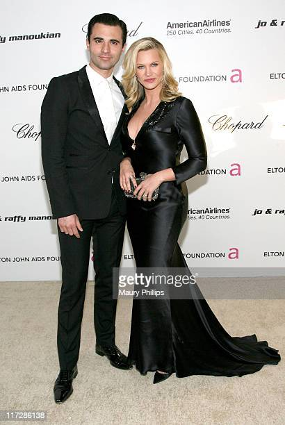 Actress Natasha Henstridge and Darius Danesh attend the 19th Annual Elton John AIDS Foundation's Oscar viewing party held at the Pacific Design...