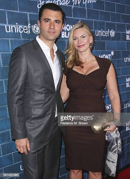 Actress Natasha Henstridge and Darius Danesh attend the Montblanc And UNICEF Host PreOscar Brunch Celebrating Their Limited Edition Collection at the...