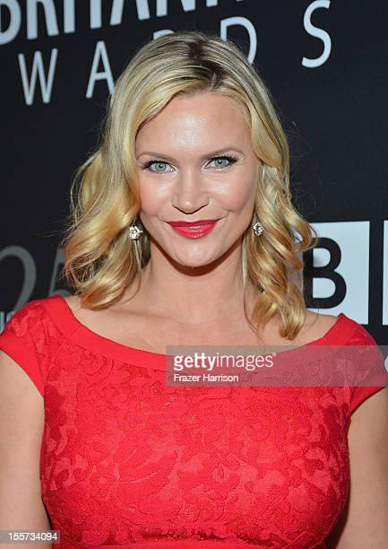Actress Natasha Henstridge arrives at the 2012 BAFTA Los Angeles Britannia Awards Presented By BBC AMERICA at The Beverly Hilton Hotel on November 7...