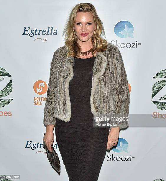 Actress Natasha Henstridge at Not For Sale x Z Shoes Benefit at Estrella Sunset on December 9, 2016 in West Hollywood, California.