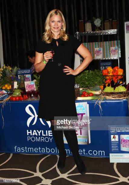 Actress Natasha Henstridge attends Kari Feinstein's PreAcademy Awards Style Lounge at W Hollywood on February 21 2013 in Hollywood California