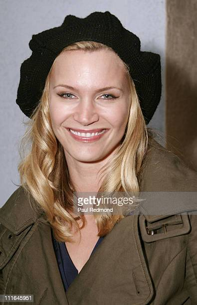 Actress Natasha Henstridge attends Last Chance for Animals benefit and reception for photographer Christopher Ameruoso at DZcor Art Galleries on...