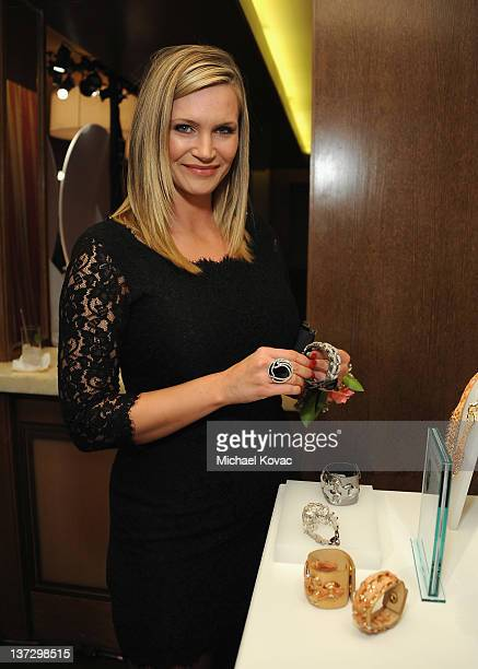 Actress Natasha Henstridge attends Swarovski Press Preview with Cameron Silver at the Beverly Hills Hotel on January 18 2012 in Beverly Hills...