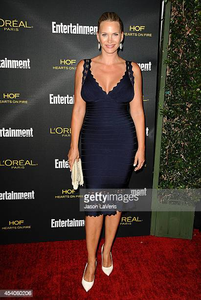 Actress Natasha Henstridge attends the 2014 Entertainment Weekly preEmmy party at Fig Olive Melrose Place on August 23 2014 in West Hollywood...