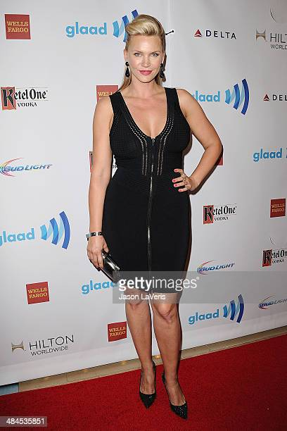 Actress Natasha Henstridge attends the 25th annual GLAAD Media Awards at The Beverly Hilton Hotel on April 12 2014 in Beverly Hills California