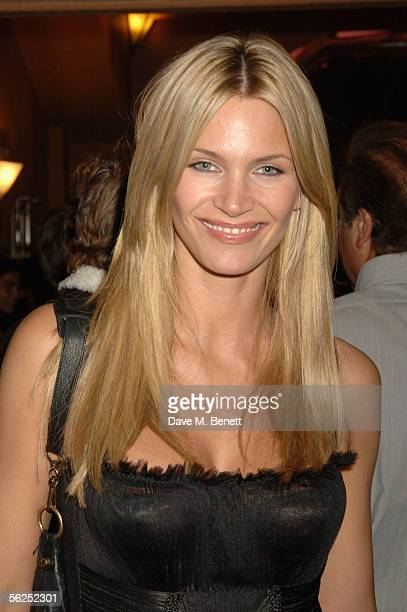 Actress Natasha Henstridge attends the backstage party following Darius Danesh's first night playing the role of lawyer Billy Flynn in Chicago The...