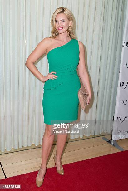 Actress Natasha Henstridge attends the DuJour Magazine celebrates great performances issue featuring 12 Years A Slave Golden Globe Nominee Lupita...