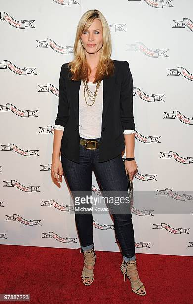 Actress Natasha Henstridge attends the opening celebration of the 'Odd Molly' boutique flagship store on March 19 2010 in Beverly Hills California