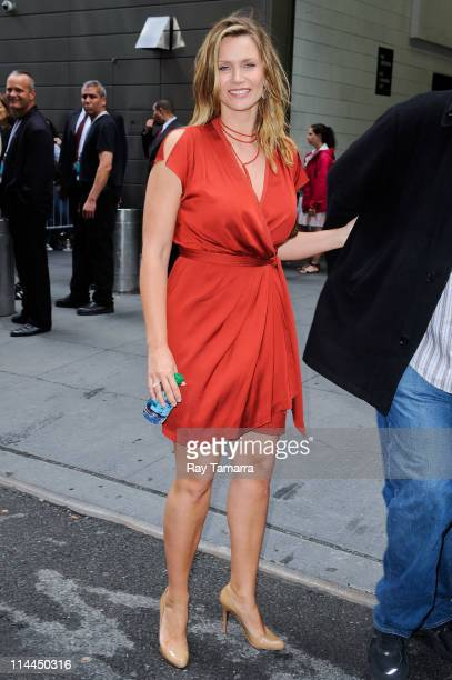 Actress Natasha Henstridge leaves Jazz At Lincoln Center on May 19 2011 in New York City