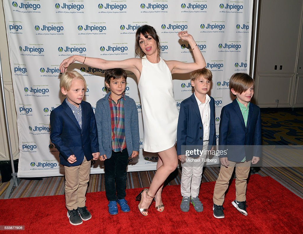 Actress Natasha Leggero (C) and young guests attend Jhpiego's 'Laughter Is The Best Medicine' event at the Beverly Wilshire Four Seasons Hotel on May 23, 2016 in Beverly Hills, California.